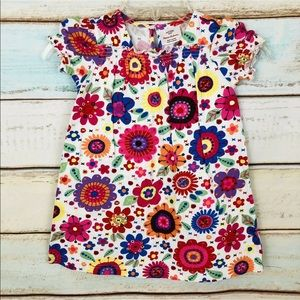 hanna andersson multi colored floral dress